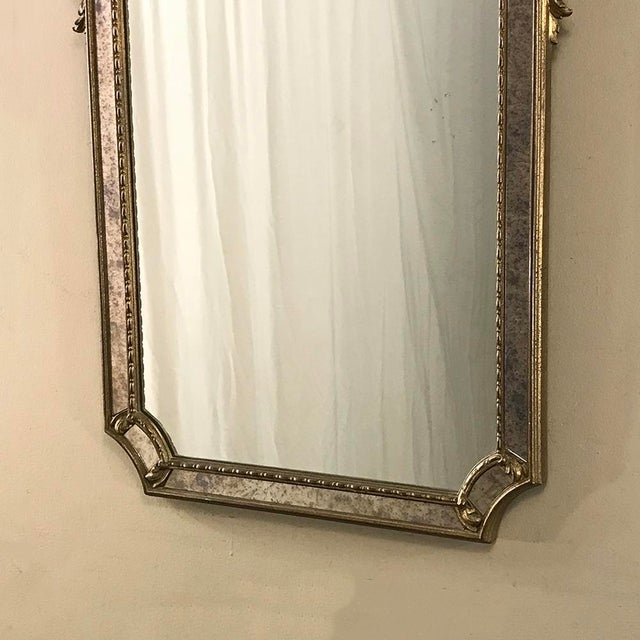 Gold Mid-Century Italian Venetian Gilded Mirror For Sale - Image 8 of 13