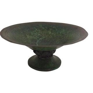 Carl Sorenson Art Deco Bronze Compote