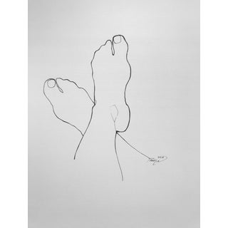 """Unwind"" Contemporary Minimalist Drawing For Sale"