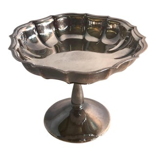"""Vintage """"Juniors 1963-1964"""" Engraved Silver Compote For Sale"""