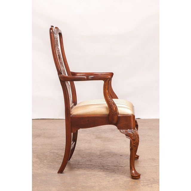 Carved Mahogany Georgian Style Dining Chairs - 12 - Image 5 of 10
