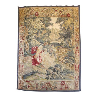 """Apollon and Muses"" French Aubusson Tapestry"