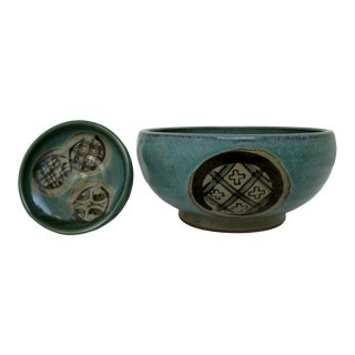 Japanese Earthenware Vessels - a Pair For Sale