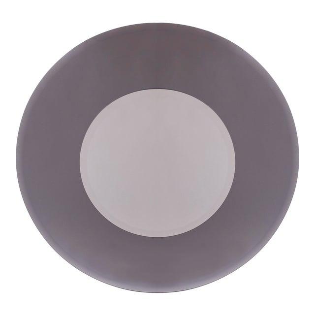 1970s Industrial Sfumato-Grey Mirror For Sale