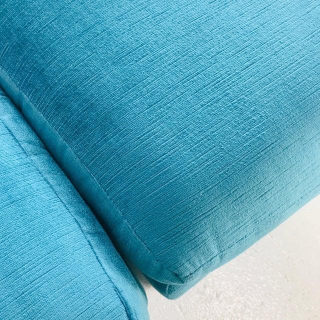 Commanding and versatile eight piece modern sectional sofa by Milo Baughman for Thayer Coggin. Retains original...