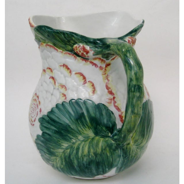 Italian Majolica Pitcher For Sale In Los Angeles - Image 6 of 10