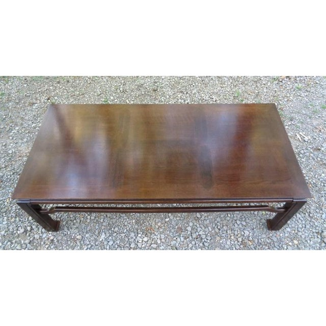 Mid Century Quartersawn Oak Chinoiserie Coffee Table For Sale In Nashville - Image 6 of 13