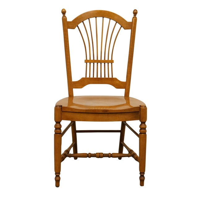 Late 20th Century Vintage Ethan Allen Casual Dining Wheat Back Dining Side Chair For Sale