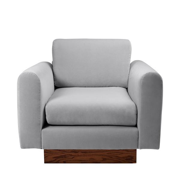Harvey Probber Lavender Velvet Club Chairs - Pair - Image 7 of 10