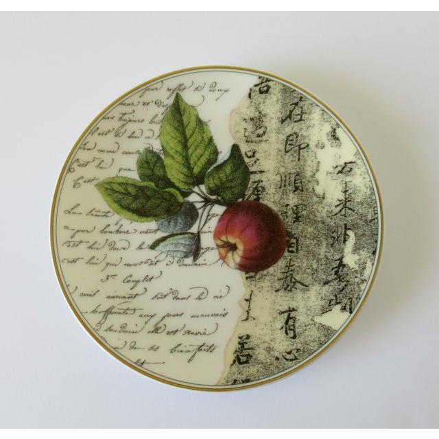 "Bernaradaud Limoges ""Peosie"" Canapé Plates - Set of 6 For Sale - Image 10 of 13"