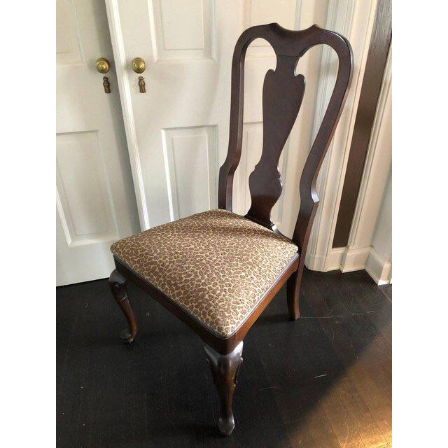 1990s 1990s Vintage Drexel Heritage Queen Anne Style Dining Chairs - Set of 10 For Sale - Image 5 of 9