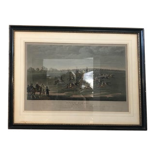 "Antique Framed Sketch of the ""Epsom Races"" For Sale"