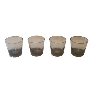 Grey Ombre Rocks Glasses - Set of 4 For Sale