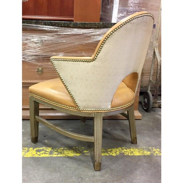 Custom Ordered Leather Nailhead Armchairs - Set of 6 - Image 5 of 11