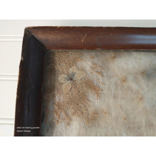 Late 19th Century Antique Arts & Crafts Milkweed & Real Butterflies Serving Tray For Sale - Image 5 of 10