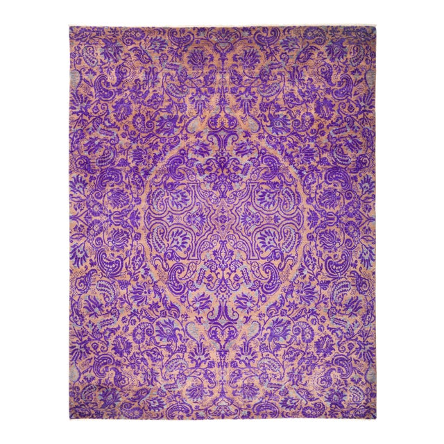 "Suzani Hand Knotted Area Rug - 8' 1"" X 10' 1"" - Image 1 of 4"