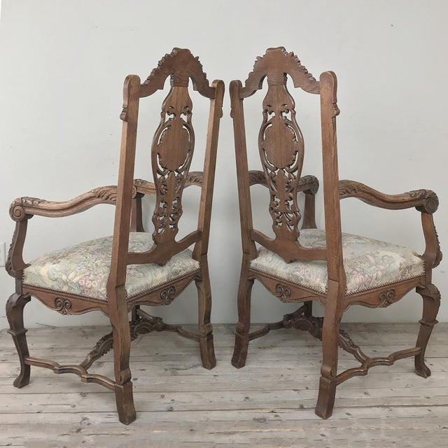 Pair 19th Century Liegoise Louis XIV Armchairs For Sale - Image 11 of 12