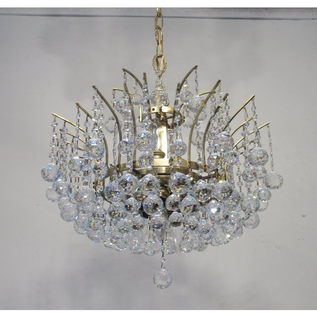 Antique Chandelier with Crystal Balls - Image 7 of 7