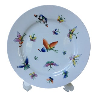 1980s Vintage Chinese Decorative Porcelain Butterfly Plate For Sale