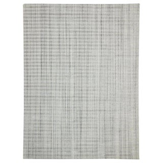 Transitional Gray Area Rug With Swedish Gustavian Style - 8′11″ × 11′11″ For Sale