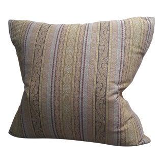 Etro Stripe Fabric Throw Pillow For Sale