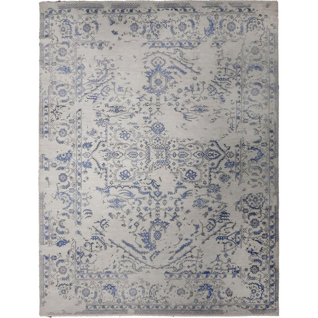 """Erased Hand-Knotted Luxury Rug - 7'11"""" X 9'10"""" - Image 1 of 9"""