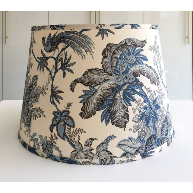 Designer Blue Tropical Toile Lamp Shade - Image 2 of 8
