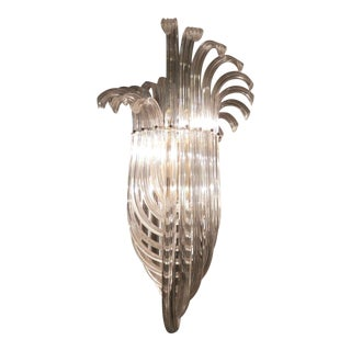 Magnificent Mid-Century Swooping Lucite Chandelier