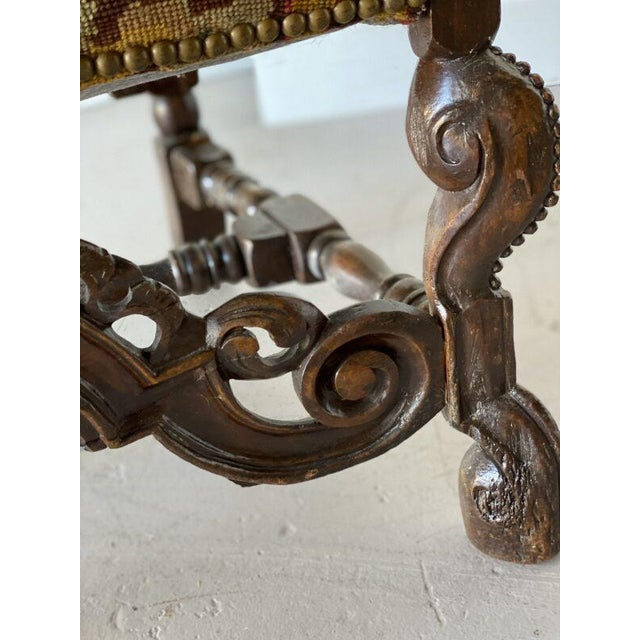 William IV Walnut Carved Armchair For Sale In West Palm - Image 6 of 8