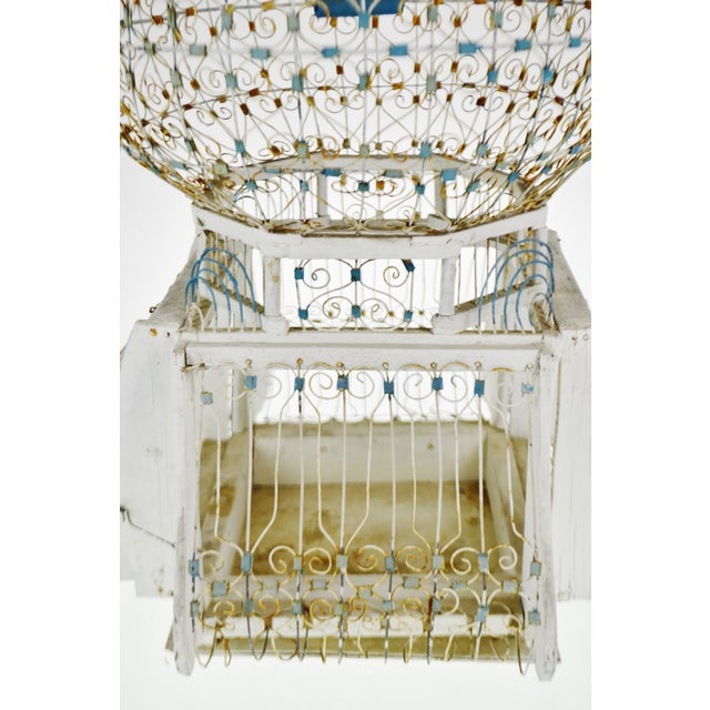 Antique French Victorian Dome Top Wire Bird Cage For Sale - Image 4 of 13