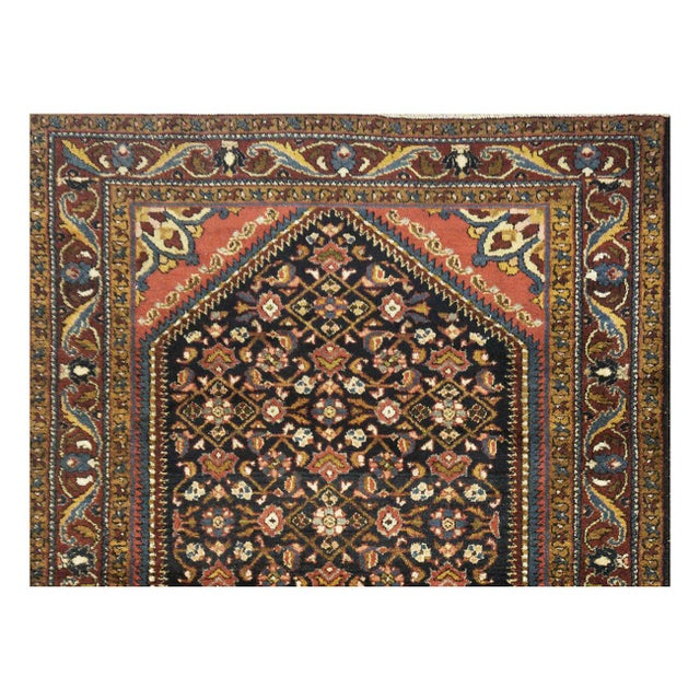 "Antique Persian Hamedan Rug - 4'6"" x 6'11"" - Image 2 of 5"