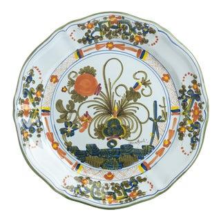 Blue Carnation Dinner Plate For Sale