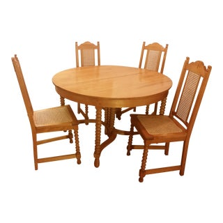 1910s Early American Dining Set - 5 Pieces For Sale