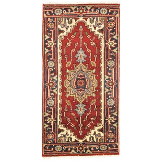 Pasargad N Y Serapi Design Hand-Knotted Rug - 2' X 4' For Sale