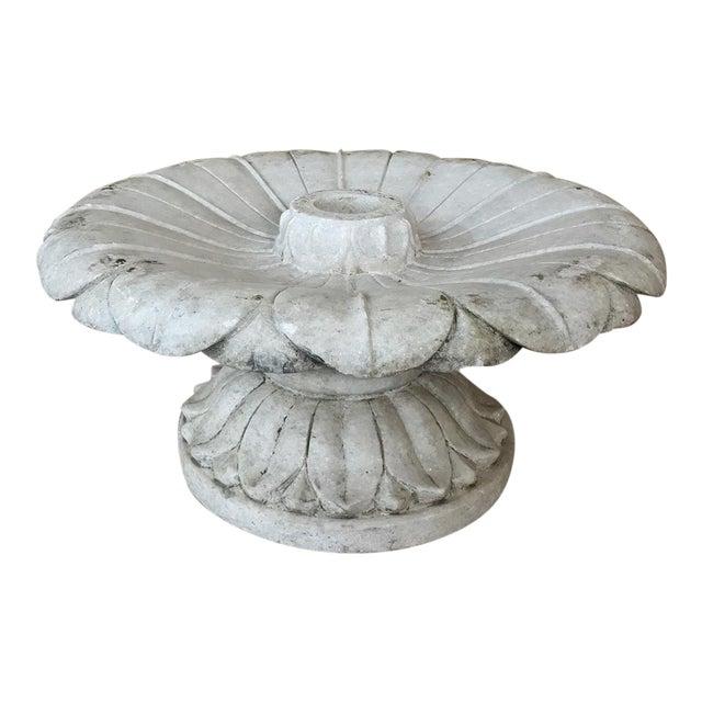 19th Century Carved Carrara Marble Garden Fountain For Sale
