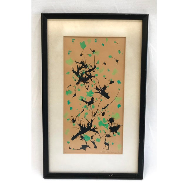 Mid-Century Modern Splatter Painting on Paper For Sale - Image 10 of 10
