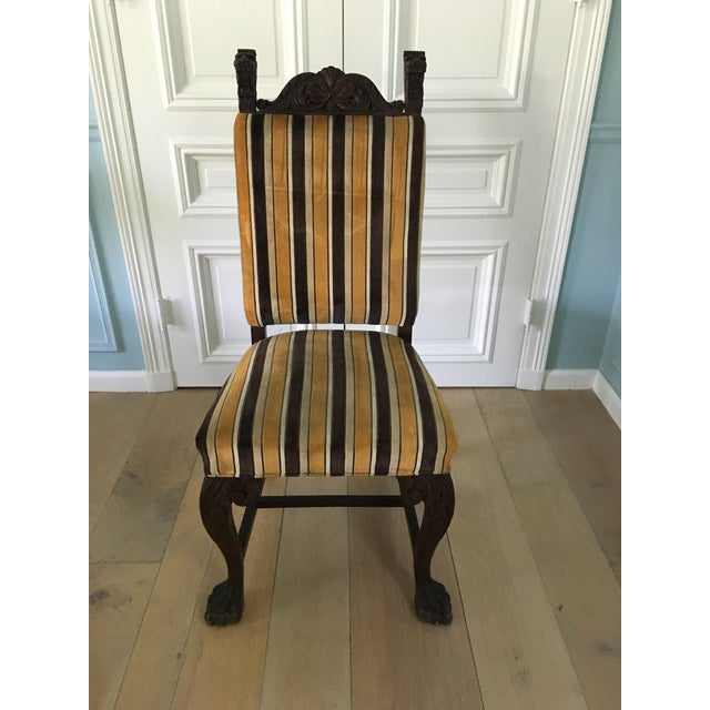 Antique French Stripe Side Chairs - Set of 6 - Image 3 of 8