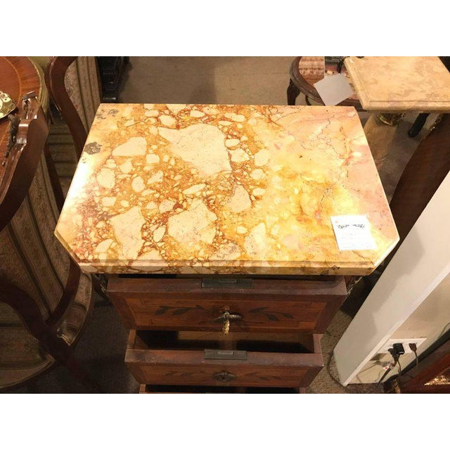 Marble 19th Century Louis XV Style Lingerie Chests - A Pair For Sale - Image 7 of 12