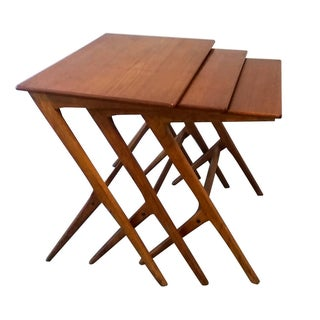 Teak Nesting Tables Attr. to Ico Parisi - Set of 3