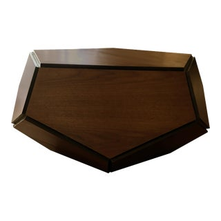 Hedra Walnut Geometrical Table