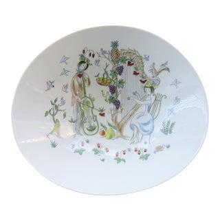 "Mid-Century Rosenthal Bowl by Artist Raymond Peynet ""Lovers"" For Sale"