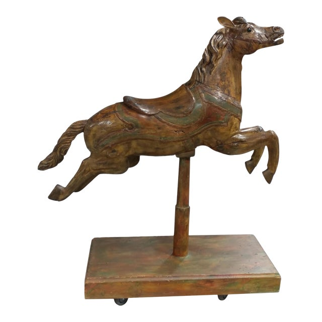 19th Century Polychrome Carousel Horse For Sale