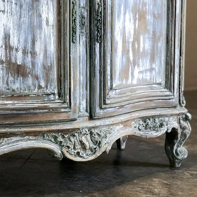 19th Century French Regence Whitewashed Commode For Sale - Image 11 of 13