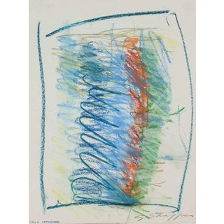 Gary Lee Shaffer Abstract Expressionist Drawing in Pastel, 1962 1962 For Sale