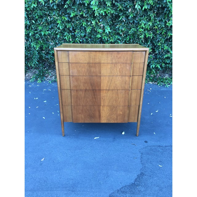 Mid Century Modern High Boy Dresser Chest of Drawers Parallel Collection by Barney Flagg for Drexel For Sale - Image 12 of 12