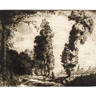 The Greensted Road by George Herbert Rose Etching For Sale