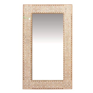 Zellige Bone Inlay Floor Mirror For Sale