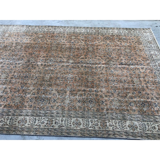 Abstract 1960s Turkish Oversize Handmade Carpet For Sale - Image 3 of 10