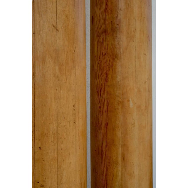 1930s 1930s Elegant Tall Fluted Decorative Pine Columns - a Pair For Sale - Image 5 of 7