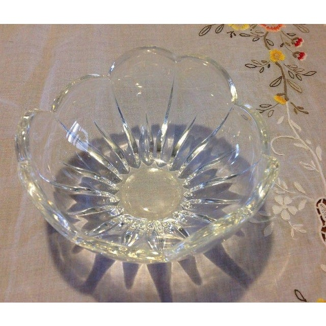 American Classical Vintage Blooming Flower Crystal Bowl For Sale - Image 3 of 5